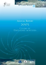 Annual Report Centre of Excellence activities