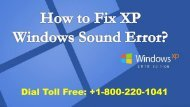 How to Fix XP Windows Sound Error 1-800-220-1041 Toll Free