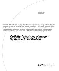 Optivity Telephony Manager: System Administration - BT Business