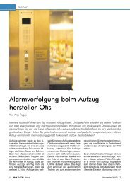 Alarmverfolgung beim Aufzug- hersteller Otis
