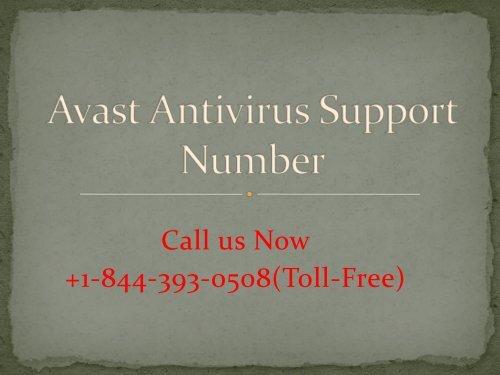 Avast Antivirus Support Number PPT