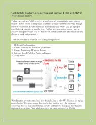 Call Buffalo Router Customer Support Service 1-866-218-3129 Number