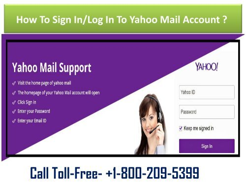 Dial 1-800-209-5399 For Yahoo Mail Sign In/Log In