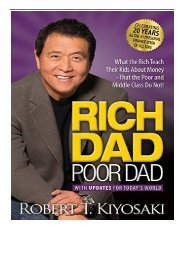 PDF Download Rich Dad Poor Dad What the Rich Teach Their Kids About Money That the Poor and Middle Class