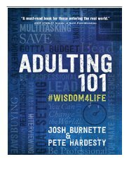 Download PDF Adulting 101 Practical Wisdom for Surviving Adulthood Full Ebook