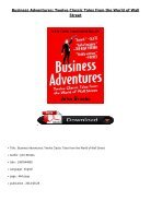 Download PDF Business Adventures Twelve Classic Tales from the World of Wall Street Full Ebook - Page 2