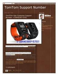TomTom Support Number +1(844)307-5701