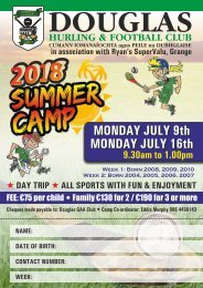Douglas GAA Summer Camp A5 Flyer 2018