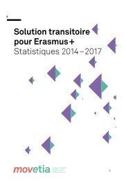Solution transitoire pour Erasmus+: Statistiques 2014-2017