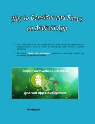 why to consider and focus on android app