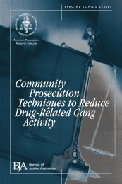 Community Prosecution Techniques to Reduce - National District ...