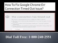 1-800-240-2551 Fix Google Chrome Err Connection Timed Out Issue