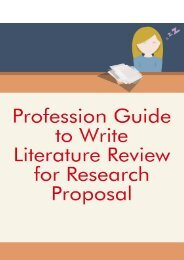 Profession Guide to Write Literature Review for Research Proposal