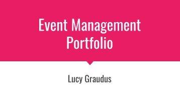 Event Planning Portfolio