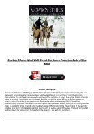 PDF Download Cowboy Ethics What Wall Street Can Learn From the Code of the West Full Online - Page 3