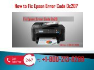 1-800-213-8289 Fix Epson Error Code 0x20