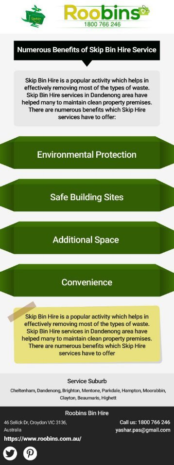 Numerous Benefits of Skip Hire Service