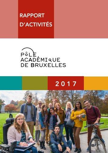 Rapport d'activites 2017 du Pôle académique de Bruxelles