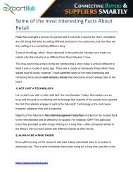 Interesting Facts About Retail