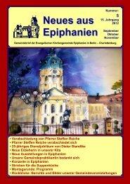 September bis November 2012 - Epiphanien