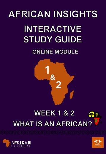 Week 1 & 2 Study Guide