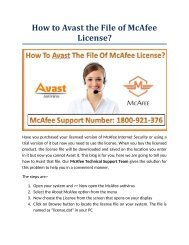 How to Avast the File of McAfee License?