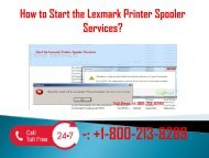 1-800-213-8289 Start the Lexmark Printer Spooler Services