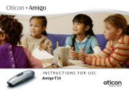 Amigo T10 INSTRUCTIONS FOR USE - Oticon