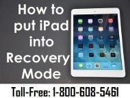 Dial 1-800-608-5461 To Put iPad In Recovery Mode