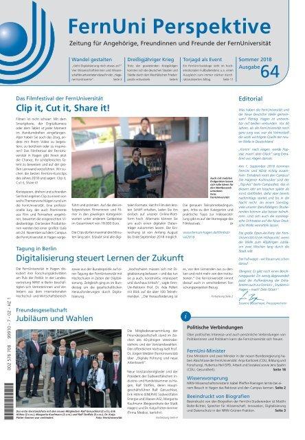 FernUni Perspektive Nr. 64 / Sommer 2018