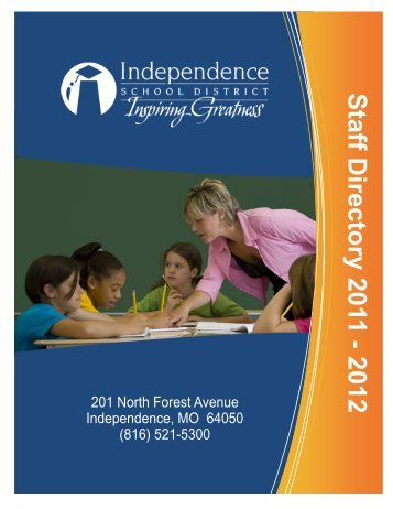 Staff Directory 2011 - 2012 - Independence Public School District