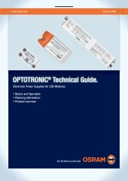 OPTOTRONIC® Technical Guide. - Osram