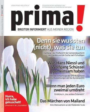 prima! Magazin – Ausgabe März 2017