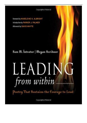 [PDF] Leading from Within Poetry That Sustains the Courage to Lead Full Page