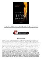[PDF] Leading from Within Poetry That Sustains the Courage to Lead Full Page - Page 3
