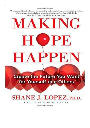 [PDF] Making Hope Happen Create the Future You Want for Yourself and Others Full Page