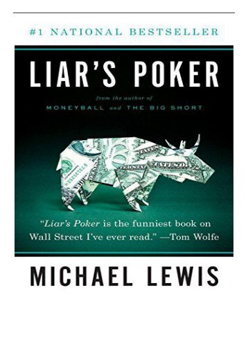 [PDF] Liar's Poker Norton Paperback Full Books