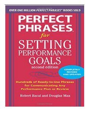 [PDF] Perfect Phrases for Setting Performance Goals Second Edition Perfect Phrases Series Full eBook