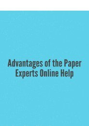 Advantages of the Paper Experts Online Help