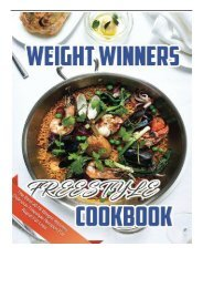 Download PDF Weight Winners Freestyle Cookbook The Best 2018 Weight Winners Delicious Freestyle Recipes