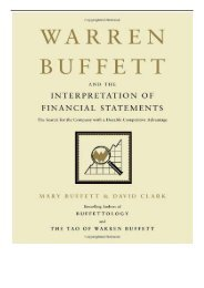 Download PDF Warren Buffett and the Interpretation of Financial Statements The Search for the Company