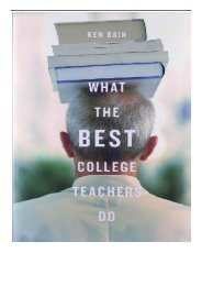 Download PDF What the Best College Teachers Do Full Online