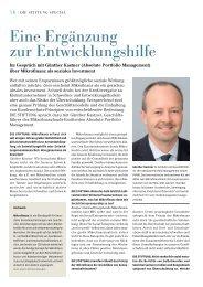 Sozial investieren. Altenpflege 5.0 - Absolute Portfolio Management ...
