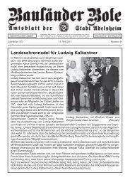 Landesehrennadel für Ludwig Kalbantner - Adelsheim