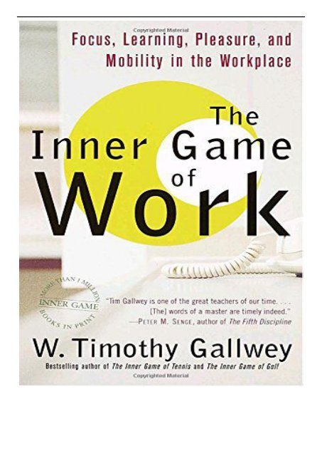 The Inner Game Of Tennis Epub