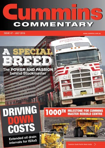 Cummins Commentary Issue 47 - July 2016