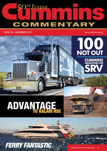 Cummins Commentary Issue 50 - December 2017