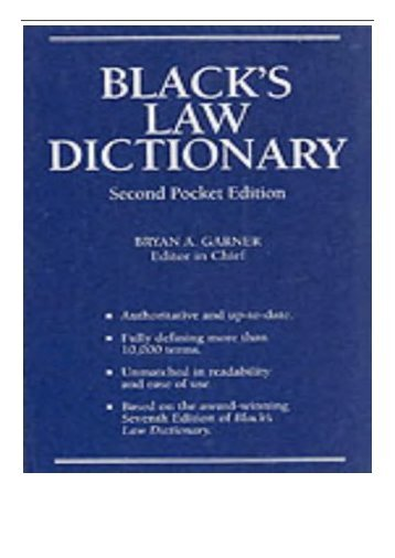 [PDF] Black's Law Dictionary Full Books