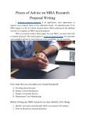 Pieces of Advice on MBA Research Proposal Writing - Page 2